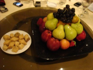 Fruit Platter and Baklawa