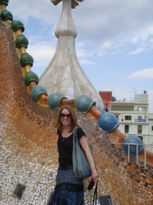 On the roof at Casa Batlo