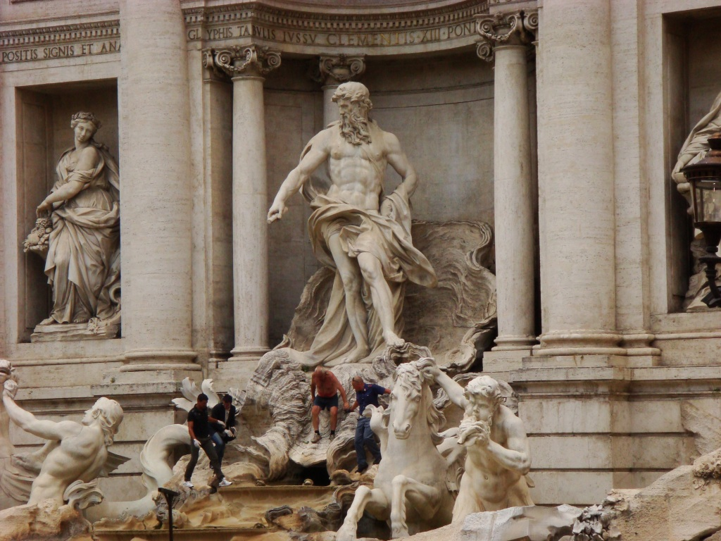 Terror at Trevi Fountain