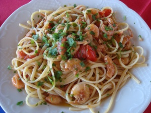 Crustacean Pasta (with the crusts still on!)
